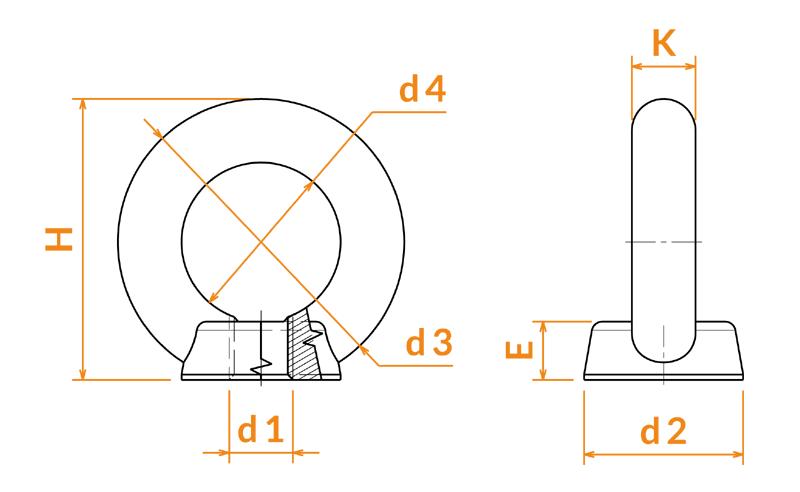 Anneaux DIN 582