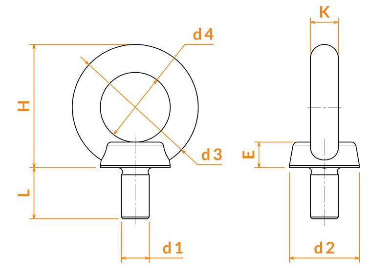Anneaux DIN 580