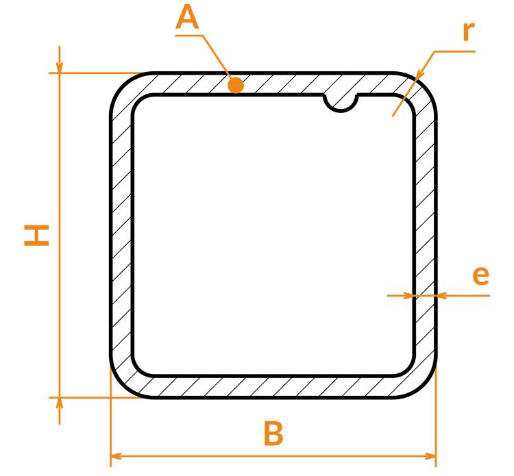 Tube carré